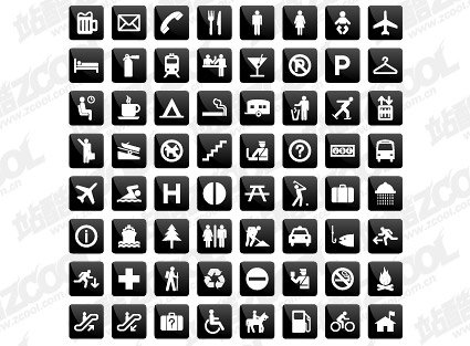 Living common graphical icons vector instruction material
