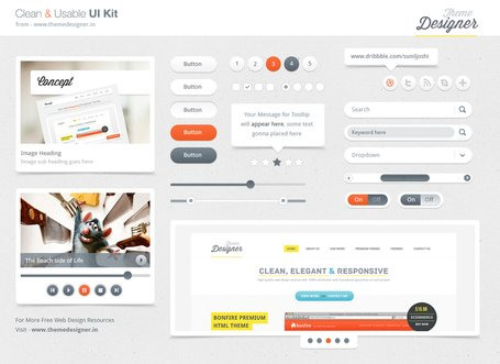 Clean & Usable UI Kit