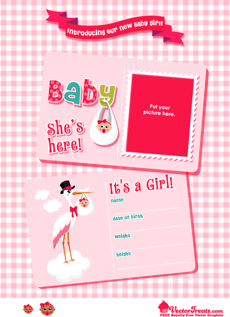 Free Vector Graphics to Introduce Your Baby Girl