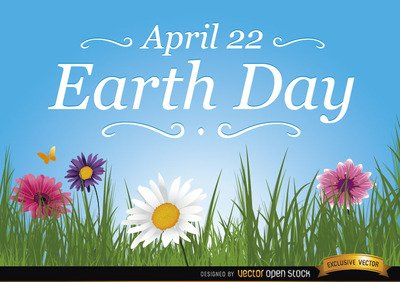 Earth day daisies wallpaper