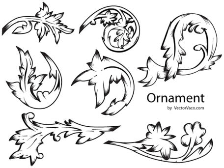 Gratis bloemen Ornament vectoren