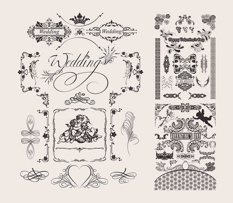 Wedding Lace Pattern Vector Material Marriage Wedding Angels