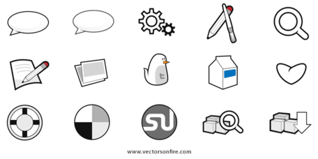 15 sitio social y Web interconectan Icons