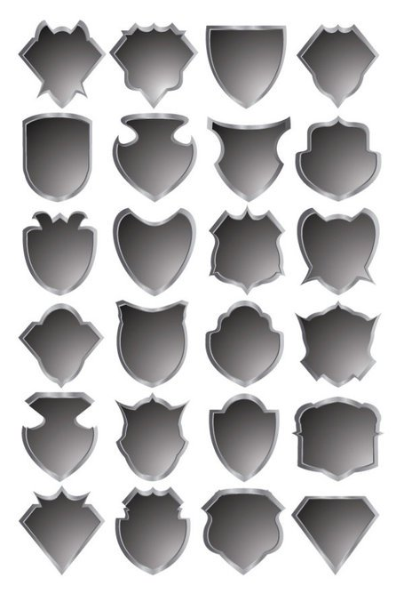 Gray badge template