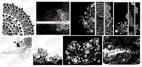 8 black and white pattern