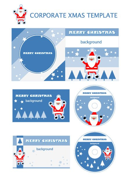 Christmas elements of the template
