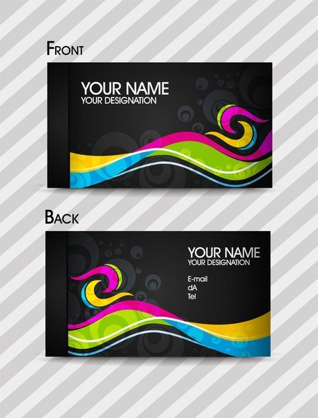 Dynamic Color Business Card Templates 02