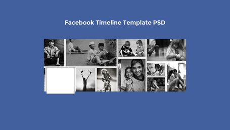 Facebook tidslinje mall PSD