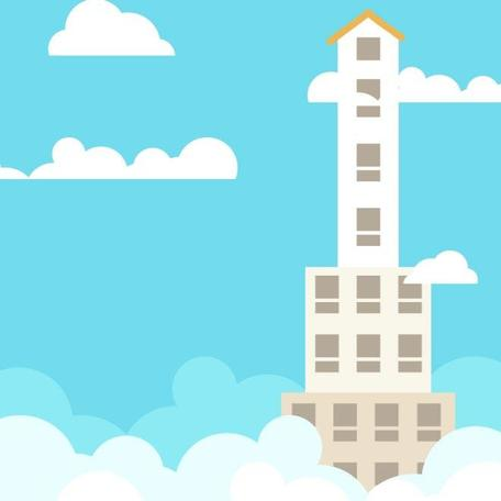 CARTOON SKYSCRAPER VECTOR CLIP ART.eps