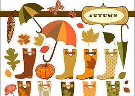 Fancy Autumn Vector Elements