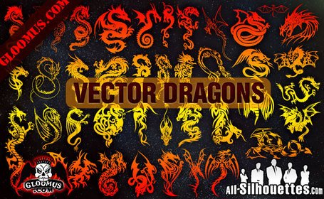 43 vecteur Dragons