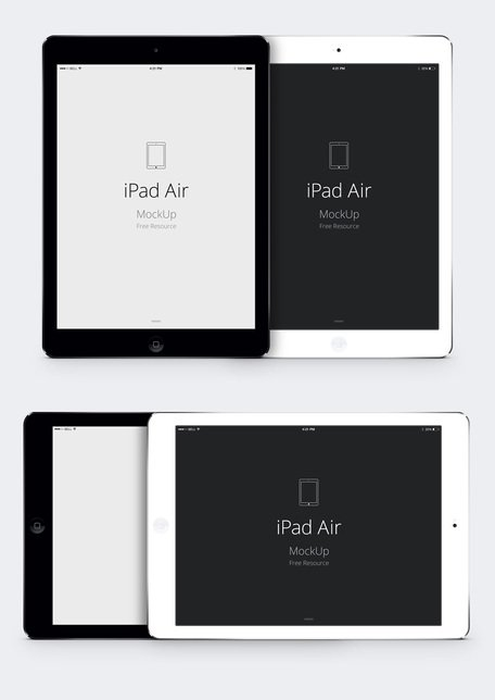 iPad Air Psd vektor Mockup