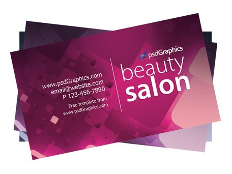 Sjabloon voor visitekaartjes beauty salon