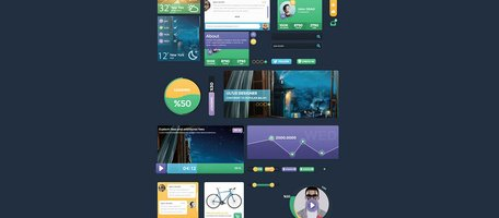 Metro Style Flat UI Elements Kit