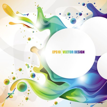 Colorful Background 02- Vector Material Fashion Beautiful Pattern