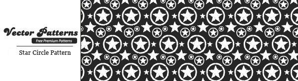 Grungy Star Circle Photoshop And Illustrator Pattern