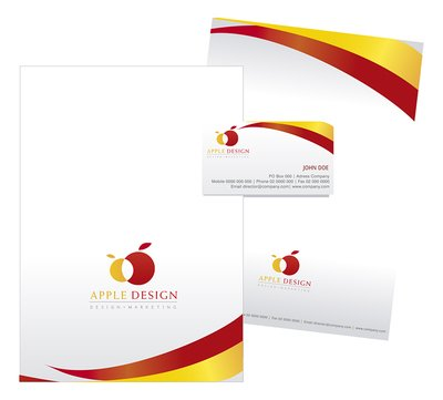 Stationary design on Yellow and Red