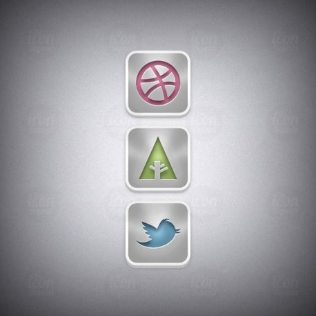 Parlak Sosyal Icon Set