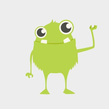 CUTE MONSTER VECTOR CLIP ART.eps
