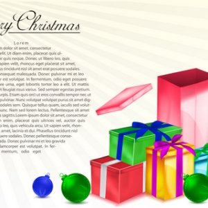 Christmas Gift Boxes Editable Abstract Art