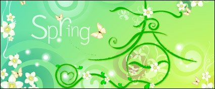 Vector spring theme material-2