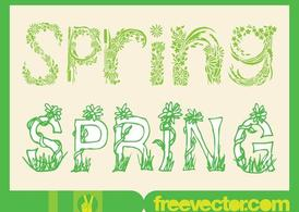 Spring Type Art Vectors