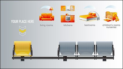 Benches chairs and furniture icon