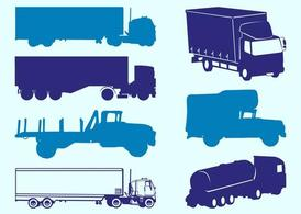 Camions Silhouettes graphiques