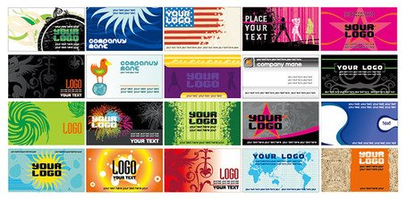 20 of the European and American-style business card template
