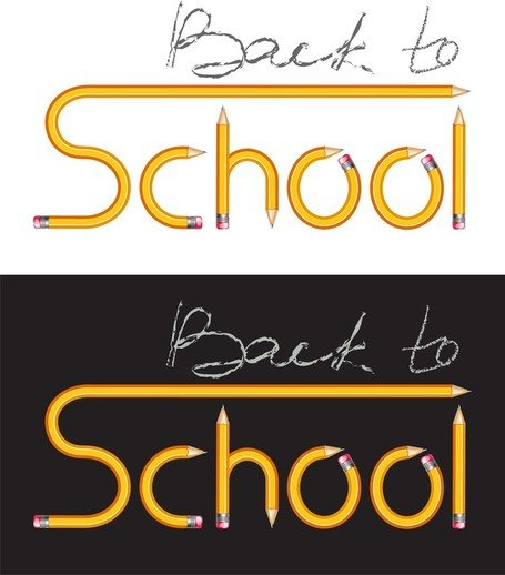 Pencil Vector Composed Of School
