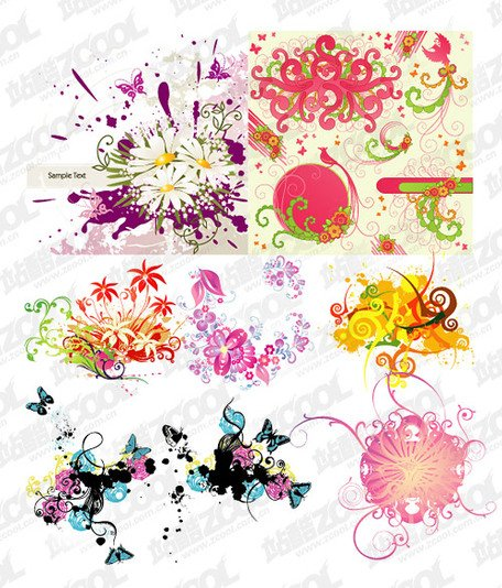 8 colorful pattern