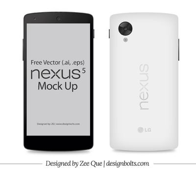 Front & Back Google Nexus 5 Smart Phone