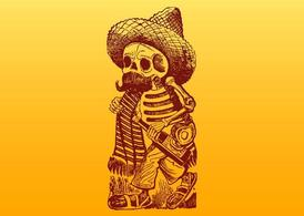 Mexicaanse Skeleton karakter