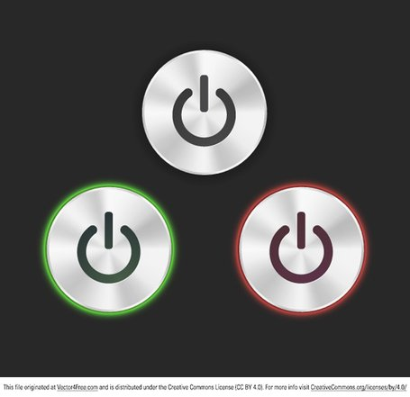 Free Vector Power Buttons