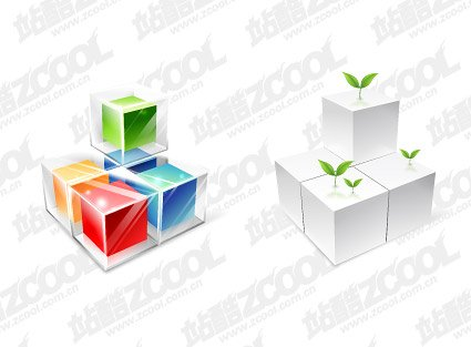 Three-dimensional color vector box material