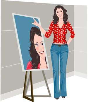 Beautiful girls custom pose vector 8