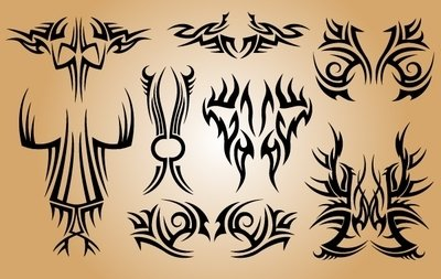 Stilvolle Tribal Tattoo Pack