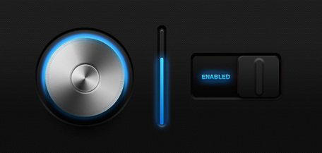 Glowing Volume Knob & Switch (PSD)