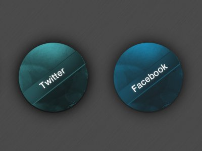 Facebook & Twitter icono