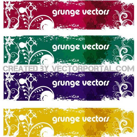 GRUNGE BANNERS VECTOR SET.eps