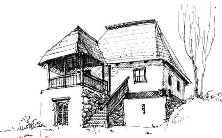 Stock Photo Cartoon Pencil House Image14770360 further House Sketch Vector 3 9773 likewise 443886106994485281 furthermore Sketch London Uk in addition Hand Holding House 36091. on cottage house sketch