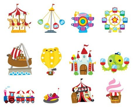 cute cartoon icon playground