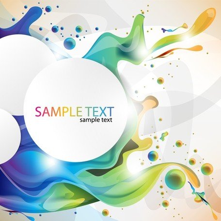 Colorful Paint Splashing Vector Art