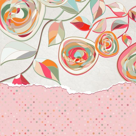 Romantic Flowers Vector Pattern