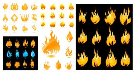 A wide range of flame