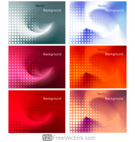 Abstract Colorful Gradient Mesh Background Illustrator
