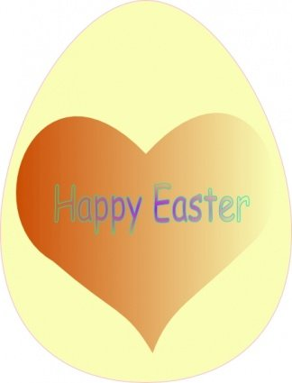 Happy Easter Heart