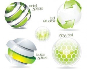 Stock Green Ilustrations for logos & symbols