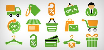 15 shopping icons (Free PSD and PNG)