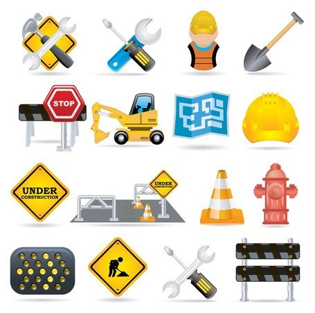 trafic de construction fine vector